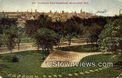 Kilbourn Park Reservoir - MIlwaukee, Wisconsin WI Postcard