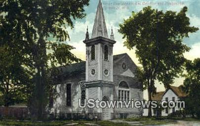 First Congregational Church & Parsonage - Plymouth, Wisconsin WI Postcard