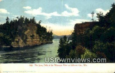 The Jaws, Wisconsiin River - Kilbourn City, Wisconsin WI Postcard