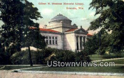 Gilbert M Simmons Memorial Library - Kenosha, Wisconsin WI Postcard