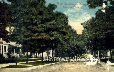 West Washington Street - Monroe, Wisconsin WI Postcard
