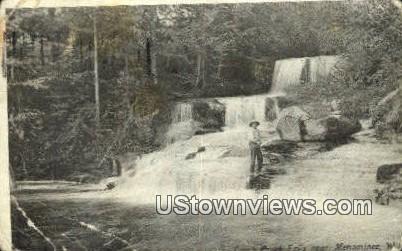 Comb Creek Falls - Menominee, Wisconsin WI Postcard