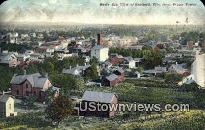Water Tower - Hartford, Wisconsin WI Postcard