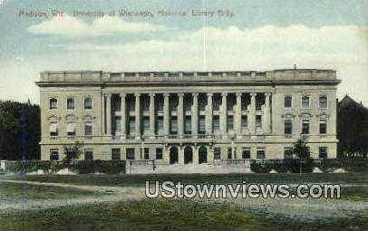 University of Wisconsin, Historical Library - Madison Postcard