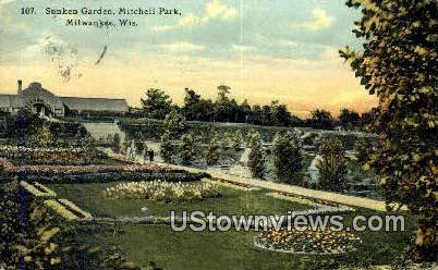 Sunken Garden, Mitchell Park - MIlwaukee, Wisconsin WI Postcard