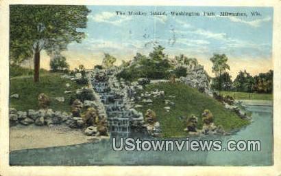 Monkey Island, Washington Park - MIlwaukee, Wisconsin WI Postcard