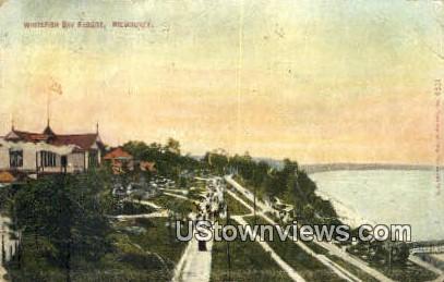 Whitefish Bay Resort - MIlwaukee, Wisconsin WI Postcard