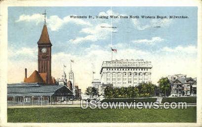 North Western Depot - MIlwaukee, Wisconsin WI Postcard