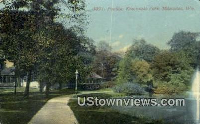 Pavilion, Kosciuszko Park - MIlwaukee, Wisconsin WI Postcard