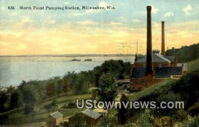 North Point Pumping Station - MIlwaukee, Wisconsin WI Postcard