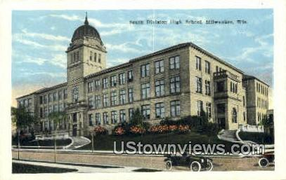 South Division High School - MIlwaukee, Wisconsin WI Postcard