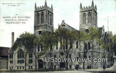 Grand Ave Methodist Episcopal Church - MIlwaukee, Wisconsin WI Postcard