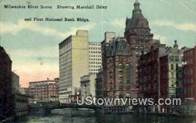 Marshall Ilsley, First National Bank Building - MIlwaukee, Wisconsin WI Postcard