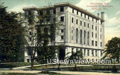 Association Hall, University of Wisconsin - Madison Postcard
