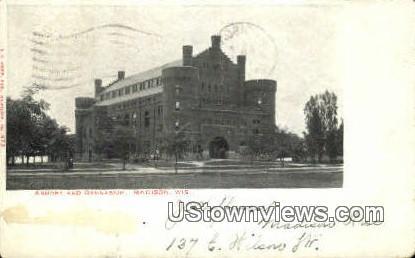 Armory & Gymnasium - Madison, Wisconsin WI Postcard