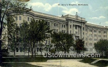 St Mary's Hospital - MIlwaukee, Wisconsin WI Postcard