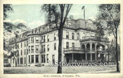 Hotel Aberdeen - MIlwaukee, Wisconsin WI Postcard