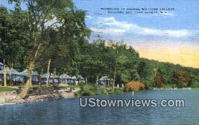 Shoreline, George Williams College - Lake Geneva, Wisconsin WI Postcard