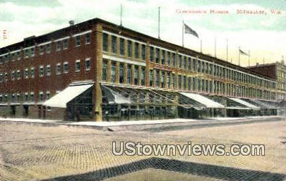 Commission House - MIlwaukee, Wisconsin WI Postcard