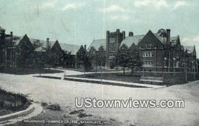 Milwaukeee Downer College - Wisconsin WI Postcard