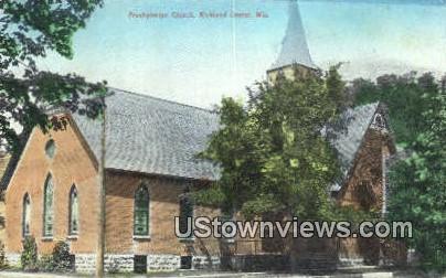 Presbyterian Church - Richland Center, Wisconsin WI Postcard