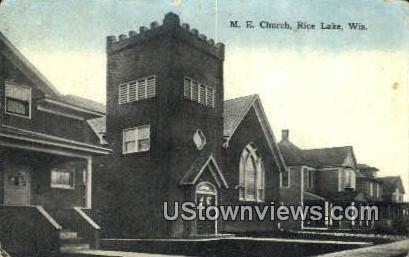 ME Church - Rice Lake, Wisconsin WI Postcard
