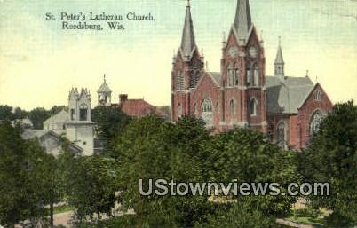 St Peter's Lutheran Church - Reedsburg, Wisconsin WI Postcard