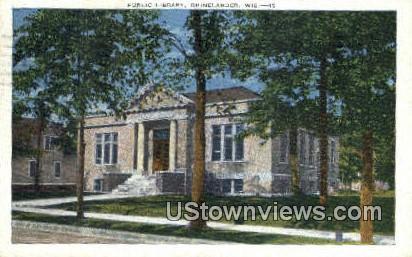 Public Library - Rhinelander, Wisconsin WI Postcard