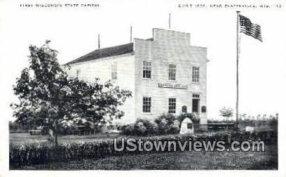 First Wisconsin State Capitol - Platteville Postcard