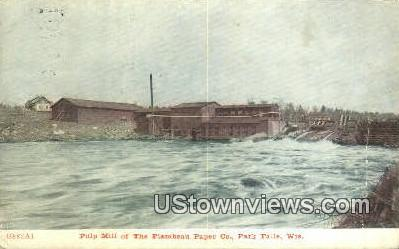 Pulp Mill, Flambeau Paper Co - Park Falls, Wisconsin WI Postcard