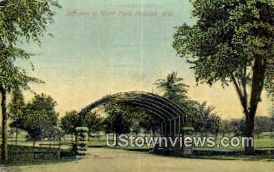 North Park - Oshkosh, Wisconsin WI Postcard