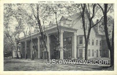 Draper Hall - Oconomowoc, Wisconsin WI Postcard