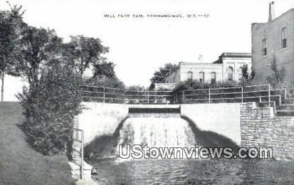 Mill park Dam - Oconomowoc, Wisconsin WI Postcard