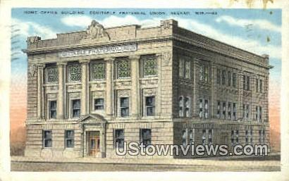 Equitable Fraternal Union - Neenah, Wisconsin WI Postcard