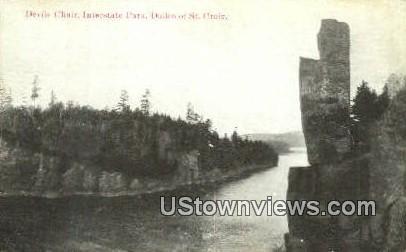 Devils Chair, Interstate Park - St. Croix, Wisconsin WI Postcard