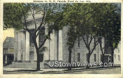 Division St ME Church - Fond du Lac, Wisconsin WI Postcard
