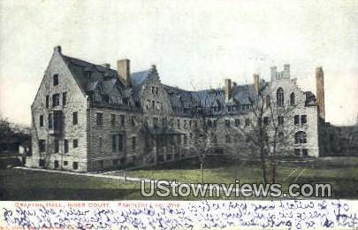Grafton Hall, Inner Court - Fond du Lac, Wisconsin WI Postcard