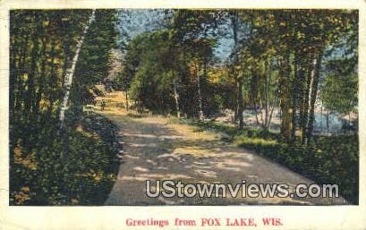Fox Lake, Wis,     ;     Fox Lake, WI - Wisconsin WI Postcard