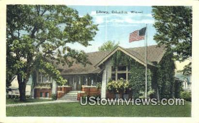 Library - Columbus, Wisconsin WI Postcard