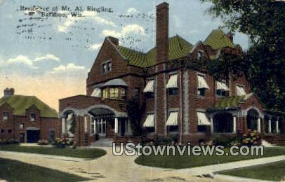 Residence of Mr Al Ringling - Baraboo, Wisconsin WI Postcard
