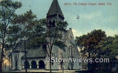 College Chapel - Beloit, Wisconsin WI Postcard