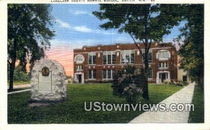 Langlade County Normal School - Antigo, Wisconsin WI Postcard
