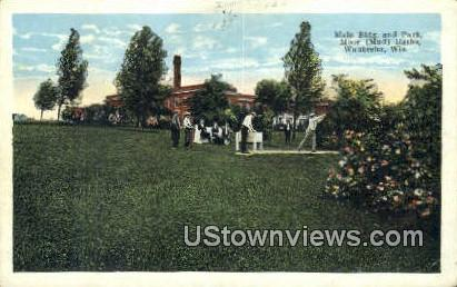 Main Building & Park, Moor Mud Baths - Waukesha, Wisconsin WI Postcard