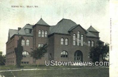 Science Hall - Beloit, Wisconsin WI Postcard