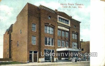 Henry Boyle Theatre - Fond du Lac, Wisconsin WI Postcard