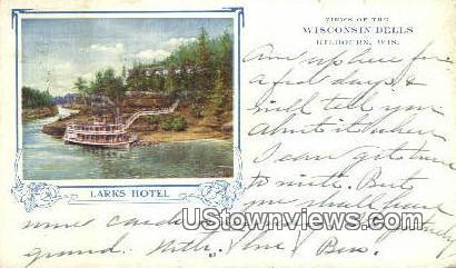 Larks Hotel - Kilbourn, Wisconsin WI Postcard