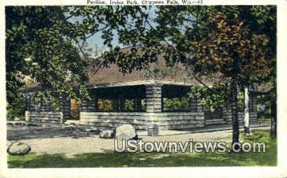 Pavilion, Irvine Park - Chippewa Falls, Wisconsin WI Postcard