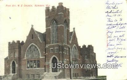 Park Ave, ME Church - Kenosha, Wisconsin WI Postcard