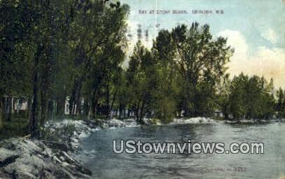 Bay, Stony Beach - Oshkosh, Wisconsin WI Postcard