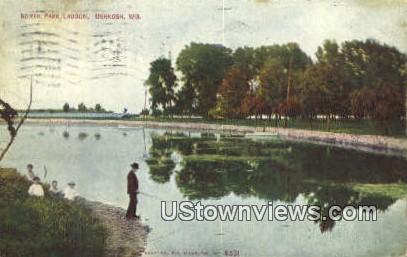North Park Lagoon - Oshkosh, Wisconsin WI Postcard